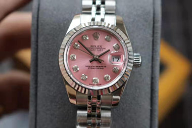 pink rolex datejust watches hot sale replica for lady