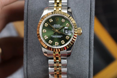 green rolex datejust watches hot sale replica for lady