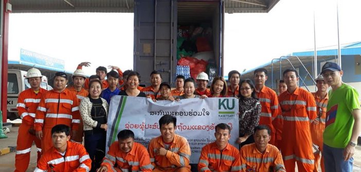 KU Spirit for flash flood at Lao PDR